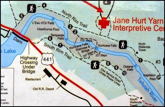 00 - Tallulah Gorge Hiking Map
