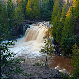 Upper Falls at Gooseberry State Park / Northern Mn. along Lake Superior.