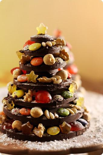 Receta arbol de navidad de chocolate
