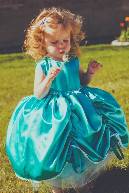 5 & 10 designs princess dress sew a straight line-14