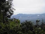 View south from the Gunung Ratai summit ridge to Gunung Tanggang and the Lampung coastline (Daniel Quinn, October 2011)