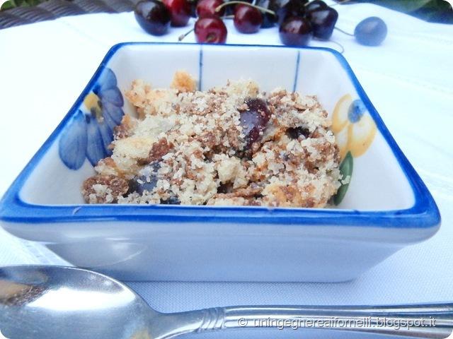 tortine ciliegie crumble senza uova lecitina