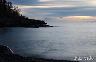 just before dawn Lake Superior