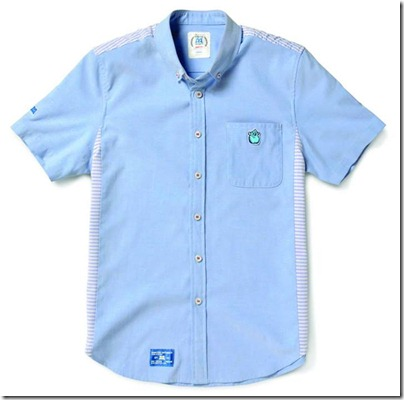 Monster University X Giordano - Blue Collar Shirt Men 02