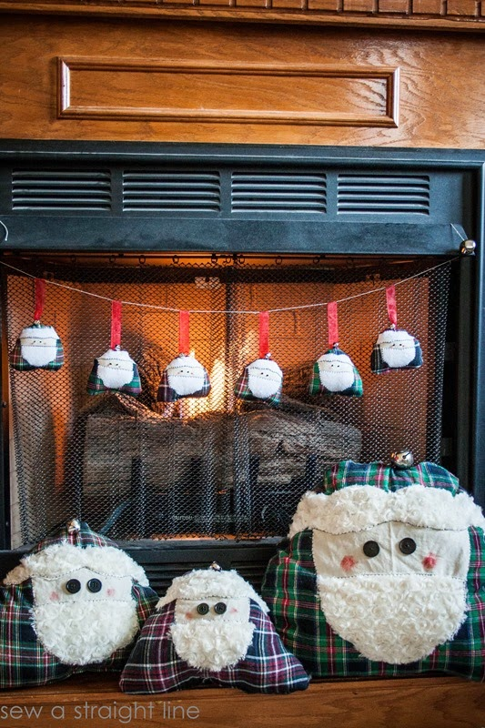 santa face ornaments sew a straight line-1-3