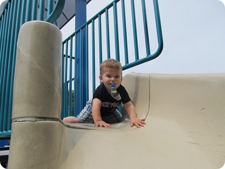 Nolan on the slide