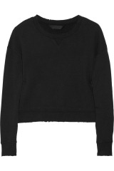 Karl Jerry distressed cotton-terry sweater
