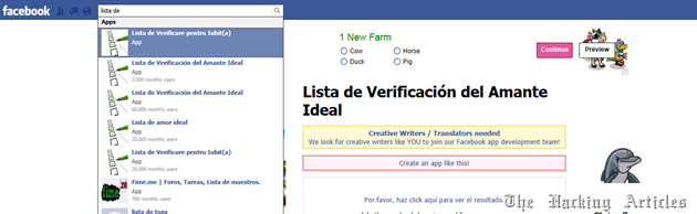 fake facebook app