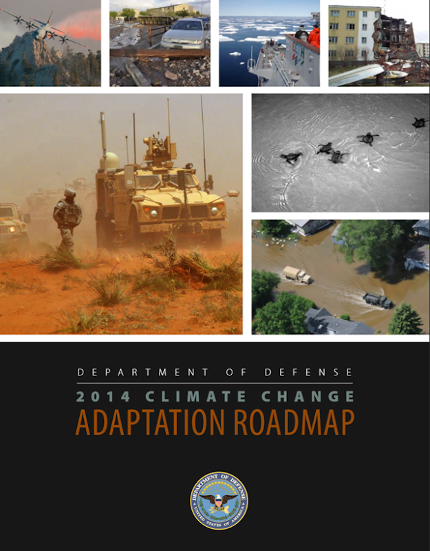 Cover of the U.S. Department of Defense report, '2014 Climate Change Adaptation Roadmap'. Graphic: Department of Defense