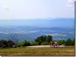 View from Dickey Ridege VC of Skyline Drive