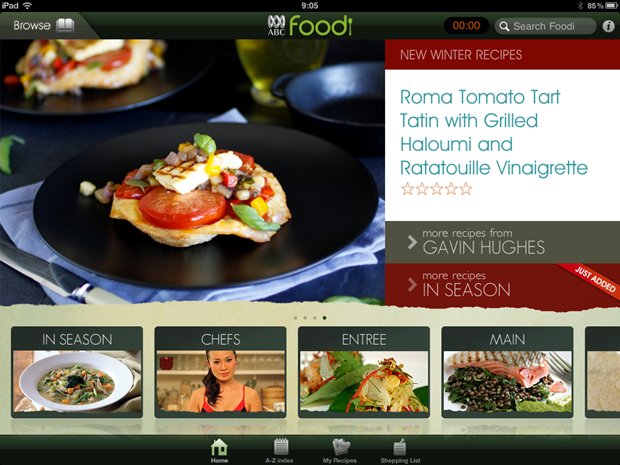 ABC Foodi app on iPad