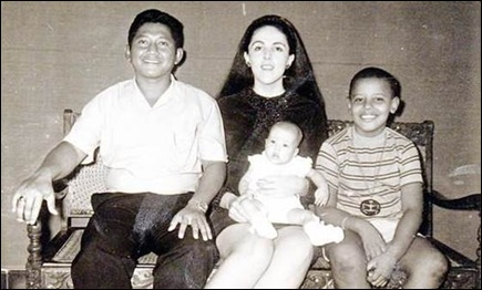 Obama Barack mom Ann marries Lolo Soetero muslin Indonesia