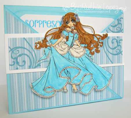 Make it Crafty. Girl with glass slipper. Latinas Arts and Crafts. Ruthie Lopez