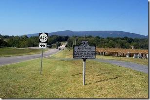 White House marker C-30 along U.S. Routes 211/340