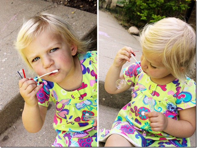 blowing bubbles collage