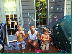 ann and boys bubbles
