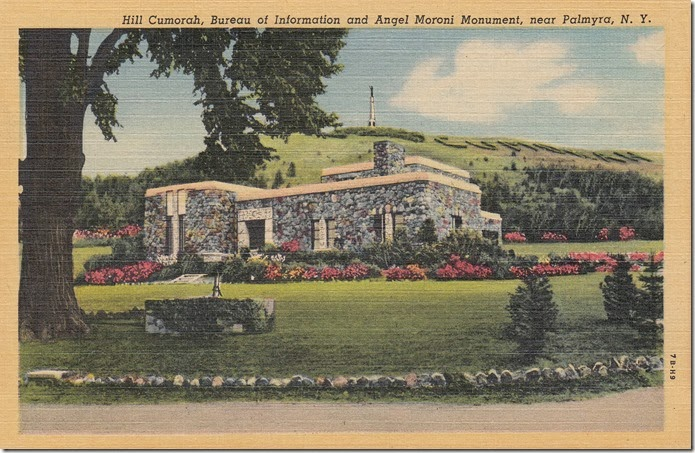 Hill Cumorah and Angel Moroni Monument, Palmyra, New York, pg. 1 - 1947