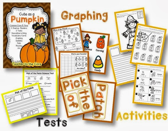 Teacher to the Core has a new Science unit on pumpkins- informational reading that is accessable to first graders- can I hear an amen (3)