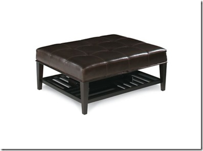 Luca Ottoman 414 with tray in Coffee Finish