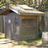 Historic pit toilets