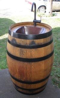 ワイン樽シンク