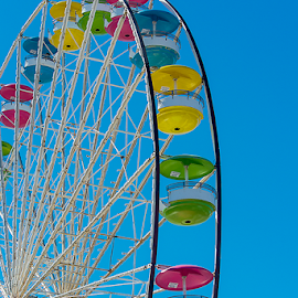 i love ferris wheels by Lennie Locken - City,  Street & Park  Amusement Parks