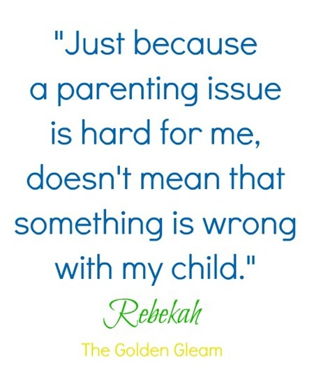Parenting Quote from Rebekah