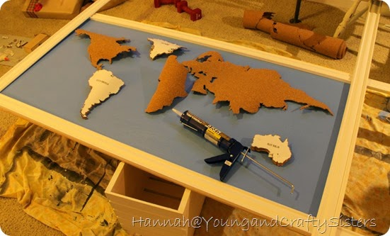 cork board world map 2