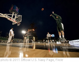 'College basketball players prepare for the Carrier Classic.' photo (c) 2011, Official U.S. Navy Page - license: http://creativecommons.org/licenses/by/2.0/