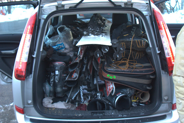 A well packed hire car