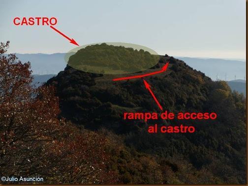 Foto estructura del castro de Santa Ágata