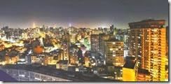 São Paulo - Vista noturna do centro da cidade.