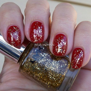 NYX Gilded Glitter over Deborah Lippmann My Old Flame 4