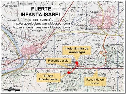Mapa ruta Fuerte Infanta Isabel
