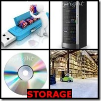 STORAGE- 4 Pics 1 Word Answers 3 Letters