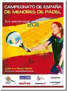 Campeonato de España Pádel de Menores del 5 al 11 septiembre en La Ciudad de la Raqueta.