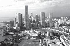 salah satu sudut kota di Singapura