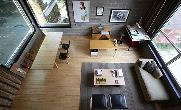 Sala de estudio organizado