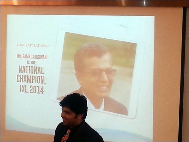 Ramki Krishnan wins IXL 2014