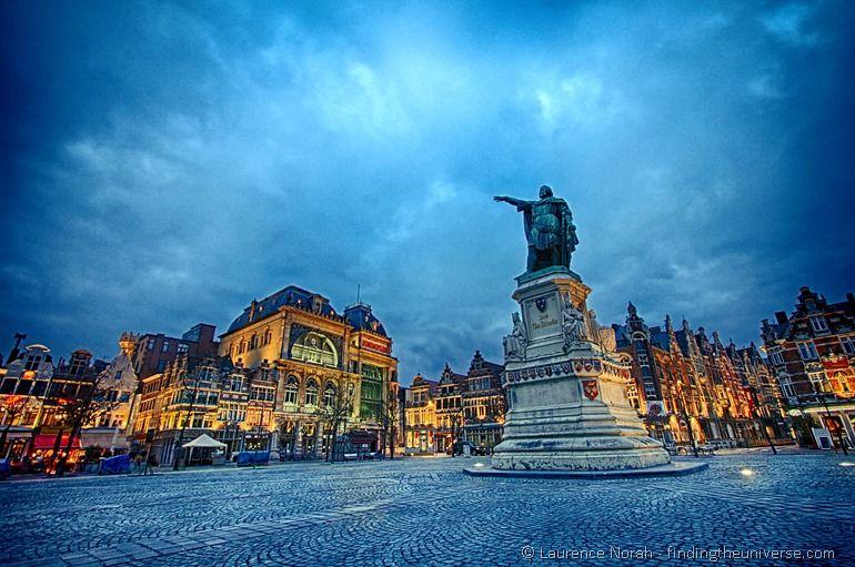 Jacob Van Artevelde Statue, Korenmarkt, Gent, Belgien