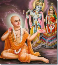[Worshiping Radha and Krishna]