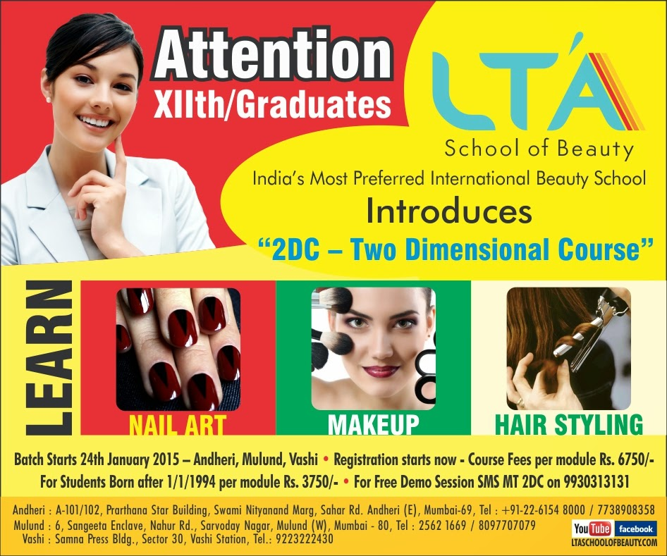 2d Creative Course In Makeup Hair Styling Nail Art Lta School