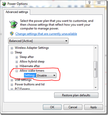 Windows 7 Sleep Mode Not Active