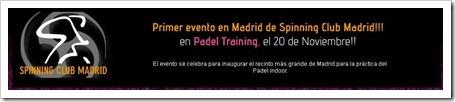 13:00 hrs: MASTER CLASS SPINING CLUB MADRID EN INDOOR PADEL TRAINING q