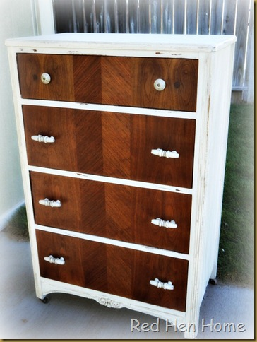 Red Hen Home:  Two-tone dresser