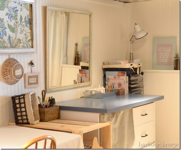 Basement Craft & Laundry Room reveal @ harbourbreezehome.