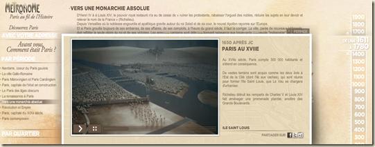 La carte intractive du Mtronome TV (France 5)