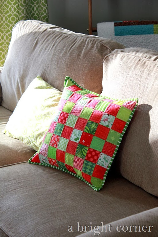 Cute Christmas patchwork pillow!
