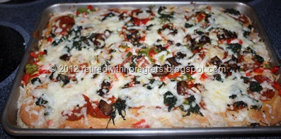 Easy Pizza - Gluten-Free   out of oven
