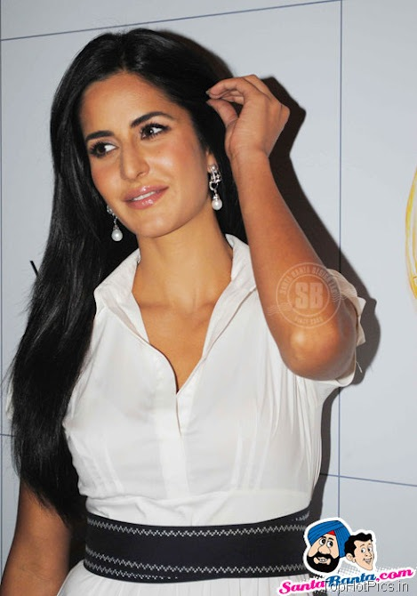 Katrina Kaif Hot Stills in White Stylish Dress 8